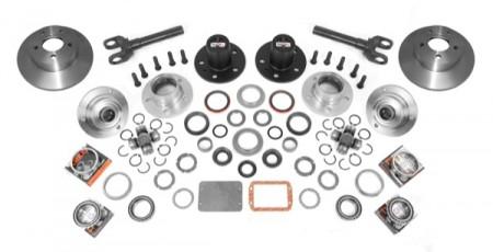Axle Locking Hub Conversion Kit, Manual; 84-95 Jeep YJ/XJ, for Dana 30