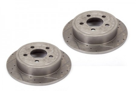 Disc Brake Rotors (2), 12 in, Drilled/Slotted; 00-06 Jeep TJ/XJ