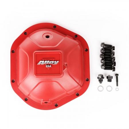 Aluminum Differential Cover, Dana 44, Red