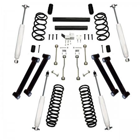 Suspension Lift Kit, 4 Inch, Shocks; 97-02 Jeep Wrangler TJ