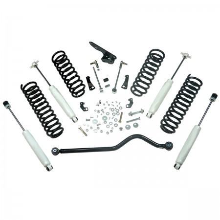 Suspension Lift Kit, 4 Inch, Shocks; 07-18 Jeep Wrangler JK, 2 Door