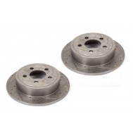 Disc Brake Rotors (2), Drilled and Slotted, 90-99 Jeep Models