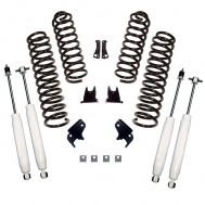Suspension Lift Kit, 2.5 Inch, Shocks; 07-18 Jeep Wrangler JKU, 4 Door