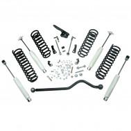 Suspension Lift Kit, 4 Inch, Shocks; 07-18 Jeep Wrangler JKU, 4 Door