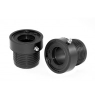 Axle Tube Seal Kit, Front, Black; 03-18 Wrangler Rubicon, for Dana 44