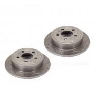 Brake Rotors, Frnt, DrilledSlotted; 07-17 Wrangler