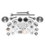 Axle Locking Hub Conversion Kit, Manual; 84-06 YJ/TJ/XJ, for Dana 30