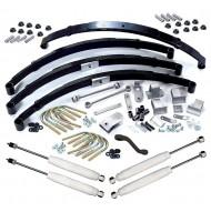 Suspension Lift Kit, 3.5 Inch, Shocks; 87-95 Jeep Wrangler YJ