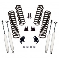 Suspension Lift Kit, 2.5 Inch, Shocks; 07-18 Jeep Wrangler JK, 2 Door
