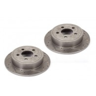 Disc Brake Rotors (2), 12 in, Drilled/Slotted; 90-99 Jeep Models