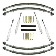 Suspension Lift Kit, 1.5 Inch, Shocks; 87-95 Jeep Wrangler YJ