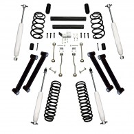 Suspension Lift Kit, 4 Inch, Shocks; 97-02 Jeep Wrangler TJ