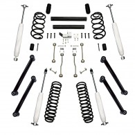 Suspension Lift Kit, 4 Inch, Shocks; 03-06 Jeep Wrangler TJ
