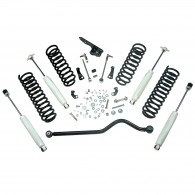 Suspension Lift Kit, 4 Inch, Shocks; 07-18 Jeep Wrangler JKU, 4 Door